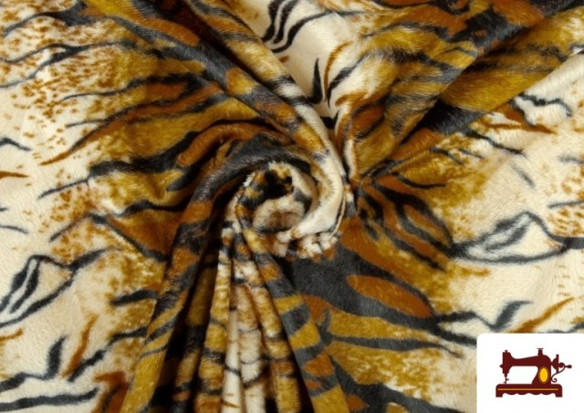 Tissu à Poil Cour Imprimé Tigre
