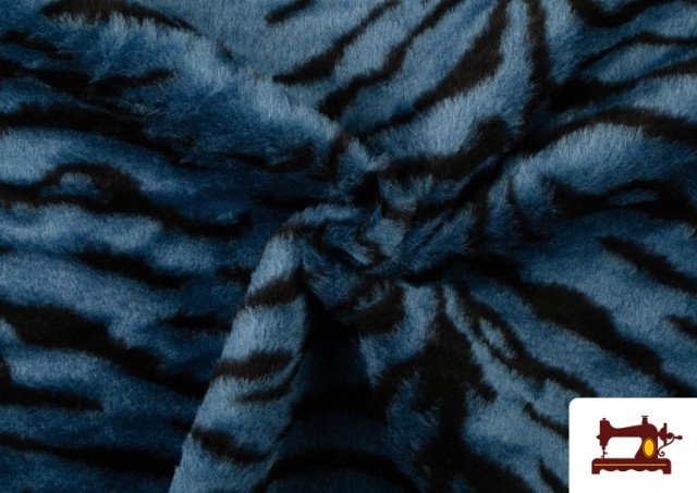 Vente en ligne de Tissu à Poil Fantaisie avec Imprimé Tigre