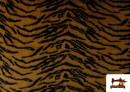 Tissu à Poil Fantaisie avec Imprimé Tigre