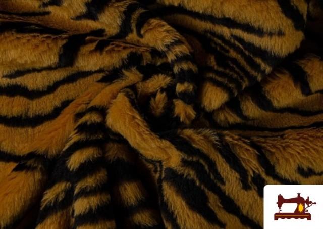 Vente de Tissu à Poil Fantaisie avec Imprimé Tigre