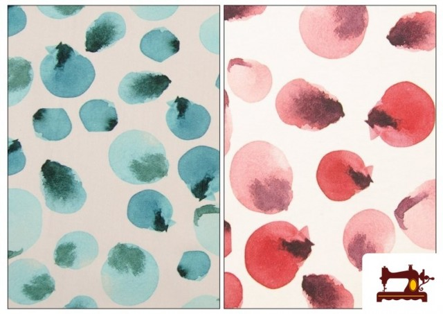 Acheter Tissu en Coton Imprimé à Pois de Couleurs couleur Rose avec Nuances