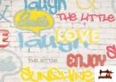 Acheter Tela Estampada con Graffitis en un Muro con Motivos de Felicidad