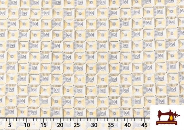 Vente de Tissu avec Dessin Géométrique Ethnique