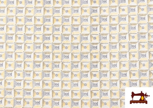 Acheter Tissu avec Dessin Géométrique Ethnique