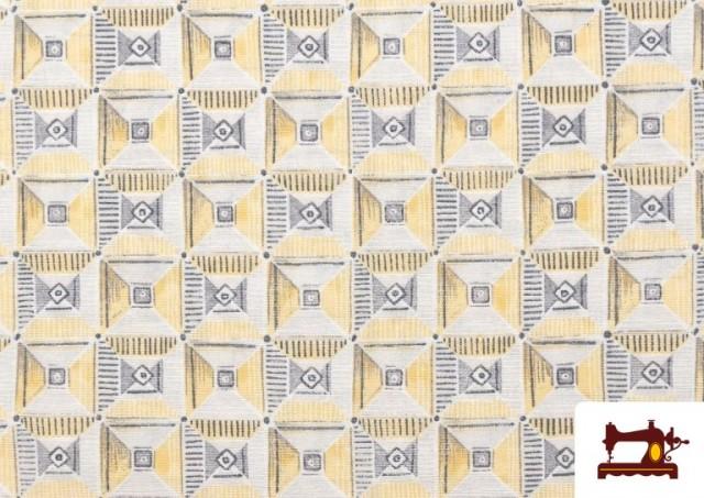 Acheter en ligne Tissu avec Dessin Géométrique Ethnique