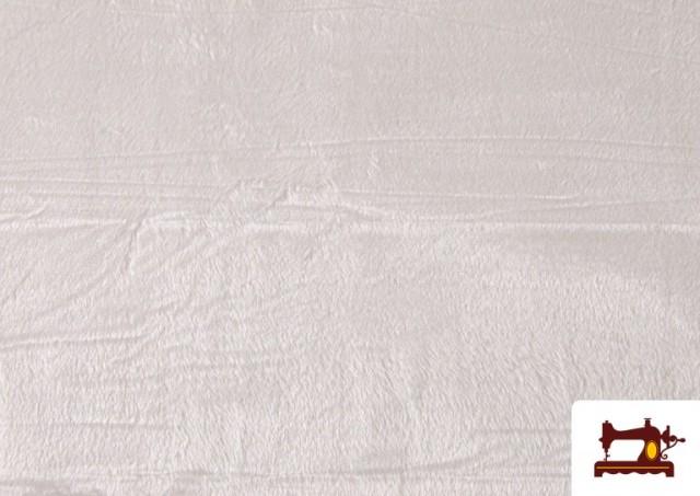 Vente de Tissu à Poil Court Blanc