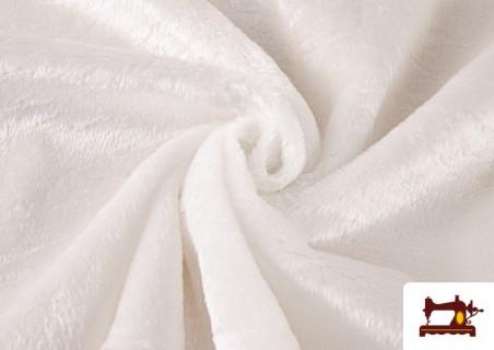 Acheter Tissu à Poil Court Blanc