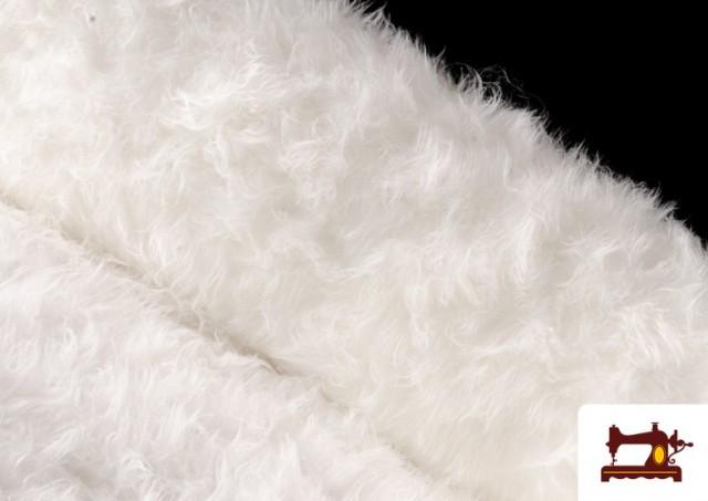 Tissu à Poil Long Blanc pour Costume Animal