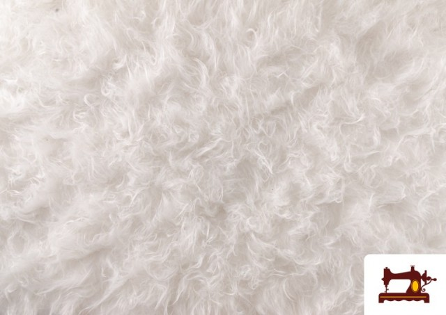 Acheter Tissu à Poil Long Blanc pour Costume Animal
