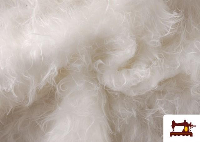 Vente de Tissu à Poil Long Blanc pour Costume Animal