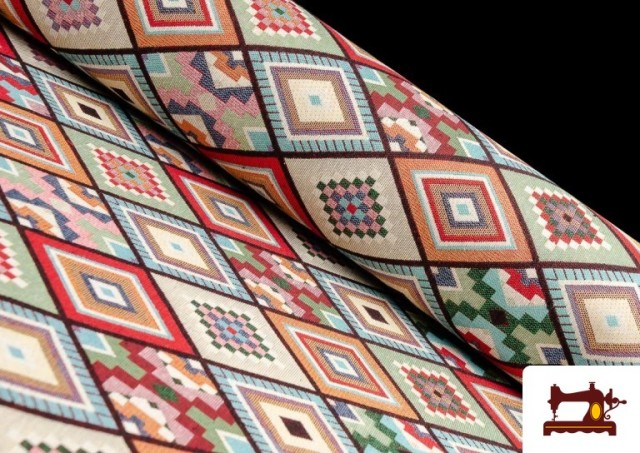Tissu pour Tapisserie en Gobelin Géométrique