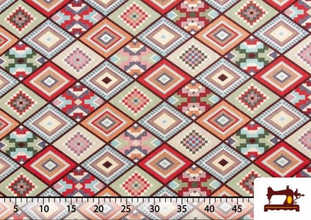 Acheter Tissu pour Tapisserie en Gobelin Géométrique