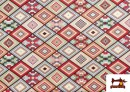 Vente de Tissu pour Tapisserie en Gobelin Géométrique