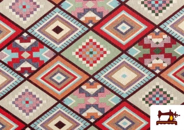 Acheter en ligne Tissu pour Tapisserie en Gobelin Géométrique