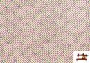 Acheter en ligne Tissu Tissé Multicolore Ethnique en Gobelin