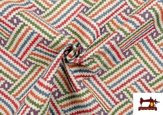 Vente en ligne de Tissu Tissé Multicolore Ethnique en Gobelin