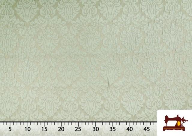 Acheter Tissu en Jacquard Cloqué de Soie en Couleurs Douces couleur Vert menthe