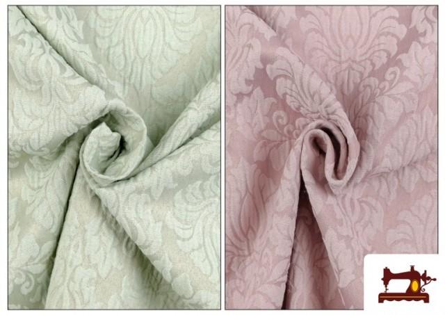 Vente en ligne de Tissu en Jacquard Cloqué de Soie en Couleurs Douces