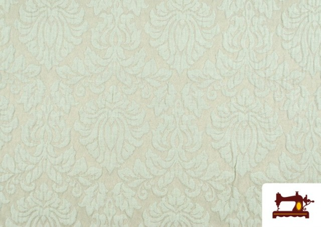 Tissu en Jacquard Cloqué de Soie en Couleurs Douces couleur Vert menthe