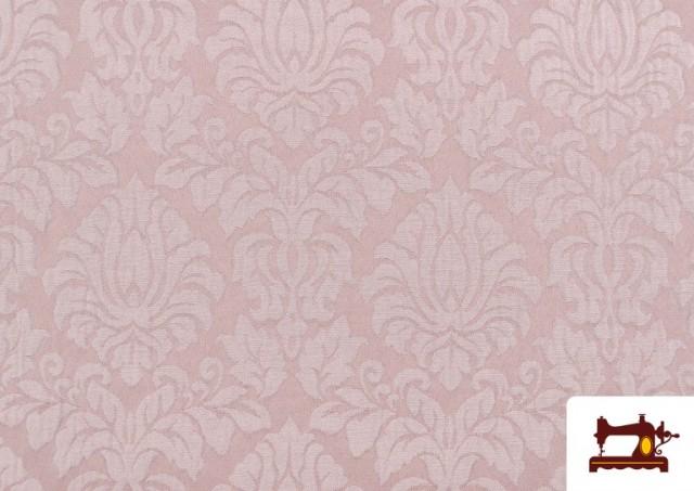 Acheter Tissu en Jacquard Cloqué de Soie en Couleurs Douces couleur Rose pâle