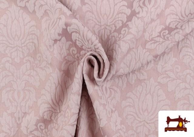 Vente de Tissu en Jacquard Cloqué de Soie en Couleurs Douces couleur Rose pâle