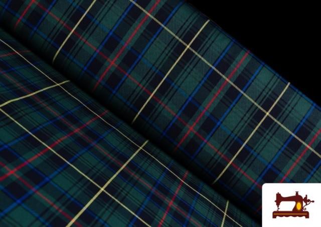 Tissu avec Carreaux Écossais Bleus