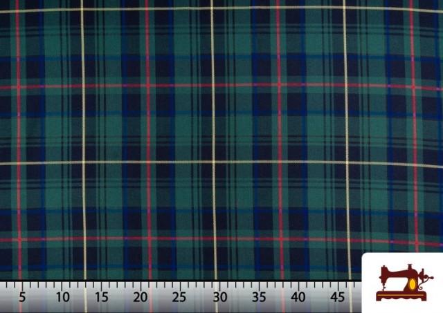 Acheter Tissu avec Carreaux Écossais Bleus