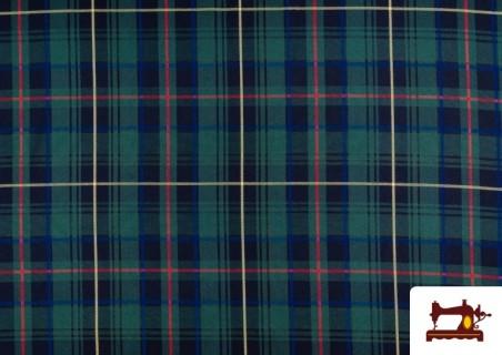 Vente de Tissu avec Carreaux Écossais Bleus