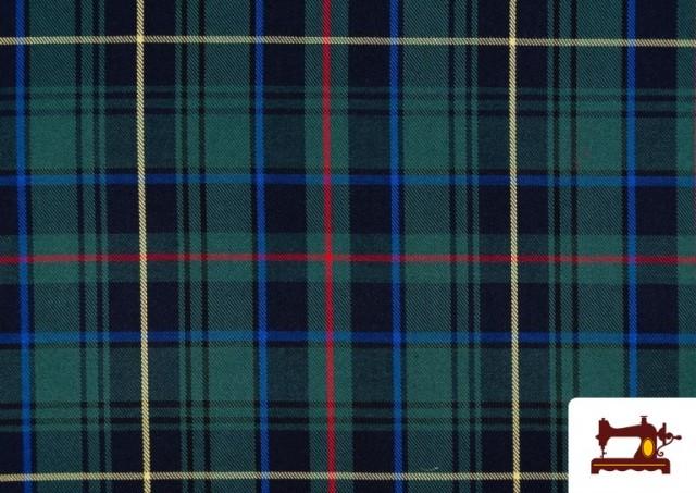 Acheter en ligne Tissu avec Carreaux Écossais Bleus