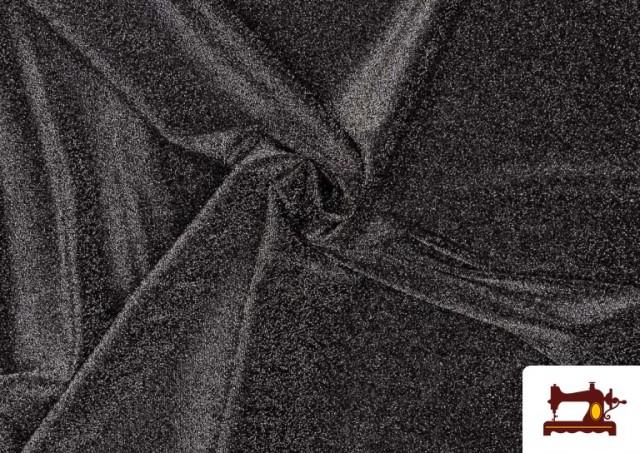 Vente de Tissu de Tee-Shirt avec Lycra et Lamé couleur Gris foncé