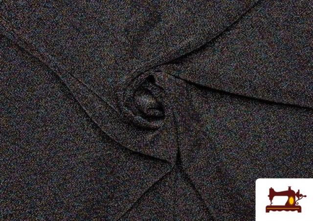Acheter Tissu de Tee-Shirt avec Lycra et Lamé couleur Noir