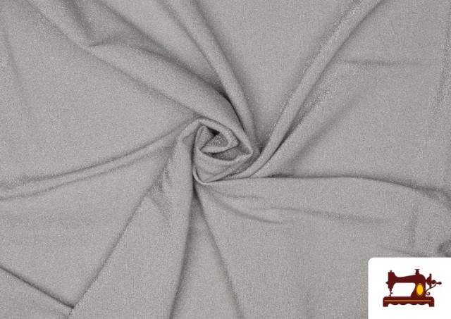 Acheter en ligne Tissu de Tee-Shirt avec Lycra et Lamé couleur Gris clair