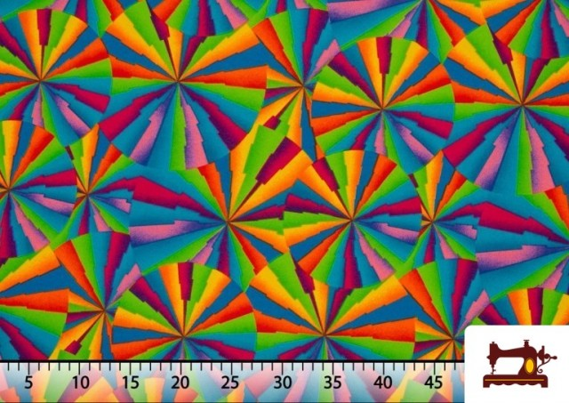 Acheter Tissu Fantaisie avec Imprimé Multicolore