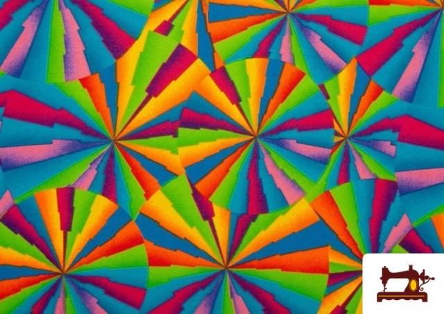 Vente de Tissu Fantaisie avec Imprimé Multicolore