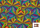 Acheter en ligne Tissu Fantaisie avec Imprimé Multicolore