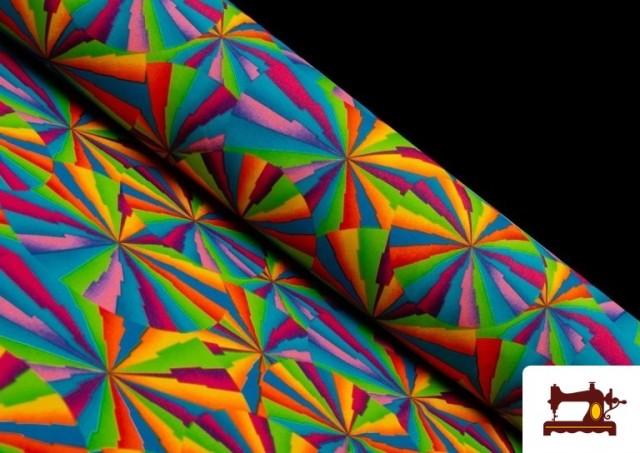Tissu Fantaisie avec Imprimé Multicolore