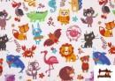 Acheter Tissu Popeline en Coton Imprimé avec Animaux Infantiles