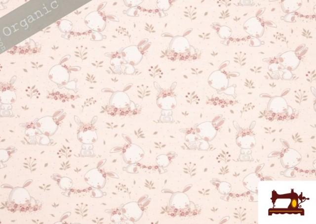 Acheter en ligne Tissu Viyella en Coton Organique Imprimé