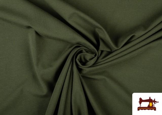 Vente de Tissu de Tee-Shirt de Couleurs couleur Vert Bouteille