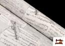 Acheter en ligne Tissu pour Décoration avec Motifs de la Musique couleur Blanc