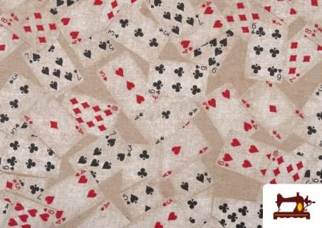 Acheter Tissu en Canvas avec Imprimé Poker