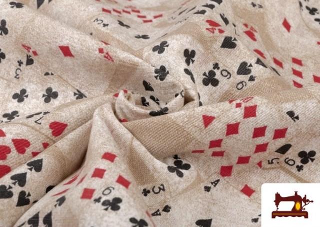 Vente en ligne de Tissu en Canvas avec Imprimé Poker
