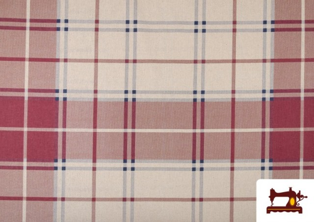 Acheter Tissu en Canvas Imprimé à Carreaux pour Décoration