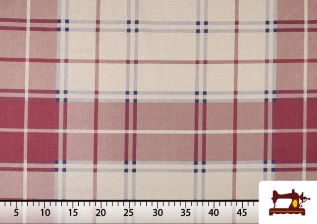 Vente de Tissu en Canvas Imprimé à Carreaux pour Décoration