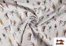 Vente en ligne de Tissu de Noël Imprimé avec Patinoire