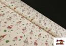 Tissu en Coton de Noël avec Imprimé Bonhomme de Neige