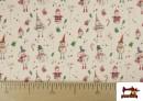 Vente de Tissu en Coton de Noël avec Imprimé Bonhomme de Neige