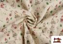 Vente en ligne de Tissu en Coton de Noël avec Imprimé Bonhomme de Neige