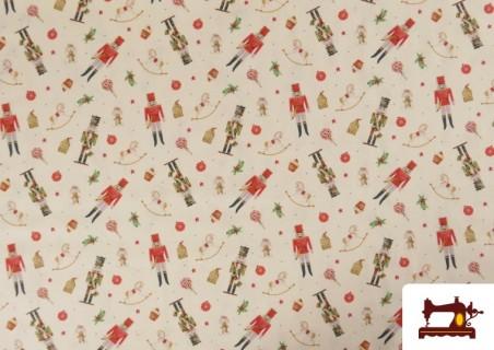 Tissu en Coton de Noël avec Imprimé Casse-Noisette