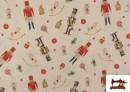 Vente de Tissu en Coton de Noël avec Imprimé Casse-Noisette